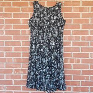 Jessica Howard floral semi sheer flare dress, 10